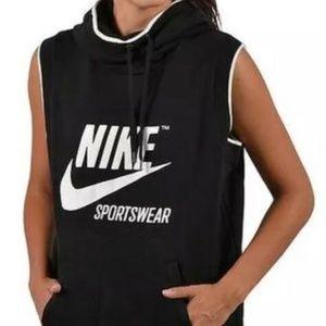 NWT Nike Sportswear Sleeveless Archive B/W Hoodie